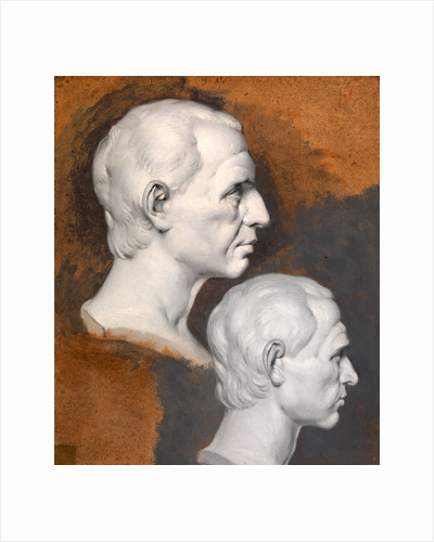 Studies of a Classical Bust A Study after an Antique Bust in Two Positions by Joseph Wright of Derby
