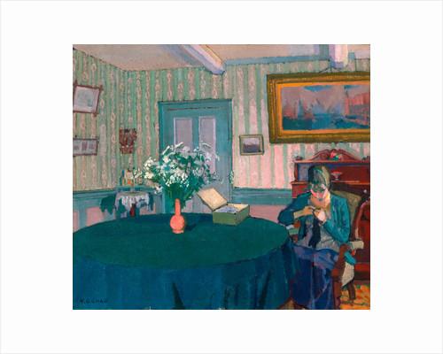 Sylvia Darning by Harold Gilman