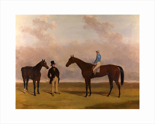 Crucifix' with John Day Up Crucifix, Winner of the oaks 1840, with John Barham Day Up by Harry Hall