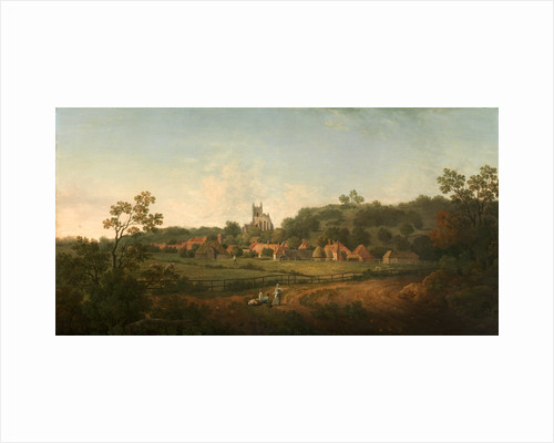 A Distant View of Hythe Village and Church, Kent by Arthur Nelson