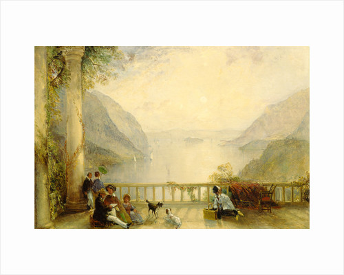 Figures on a Balcony, probably at Westpoint by Thomas Creswick