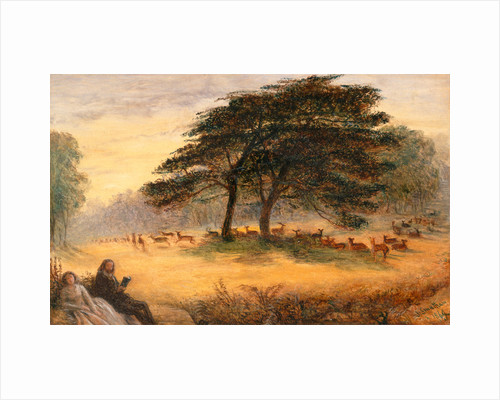 Lovers in Richmond Park (Windsor Park), London by James Smetham