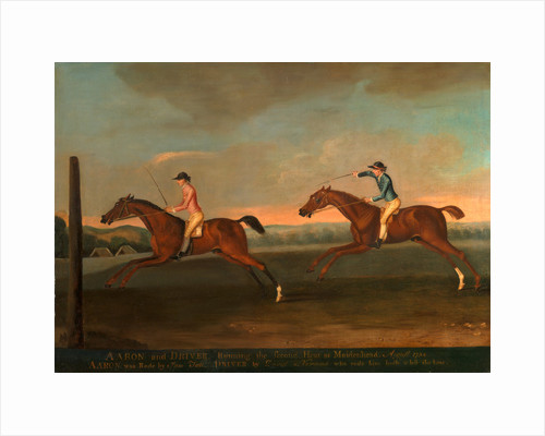 The Match between Aaron and Driver at Maidenhead, Aug. 1754: Aaron winning the Second Heat, c. 1754 by Richard Roper