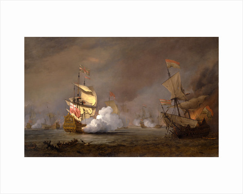 Sea Battle of the Anglo-Dutch Wars The Battle of Lowestoft by William van de Velde the Younger