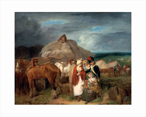 Soldier with Country Women Selling Ribbons, near a Military Camp by Francis Wheatley