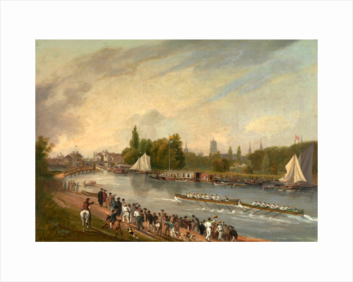 A Boat Race on the River Isis, Oxford by John Whessell