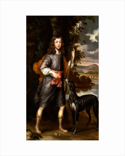 Portrait of a Boy A Boy with a Spear and a Hound by Willem Wissing
