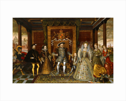 An Allegory of the Tudor Succession: The Family of Henry VIII by Anonymous