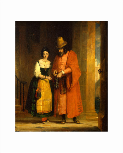 Shylock and Jessica from the 'Merchant of Venice,' II, ii by Gilbert Stuart Newton