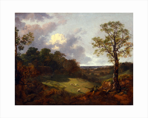 Wooded Landscape with a Cottage and Shepherd by Thomas Gainsborough