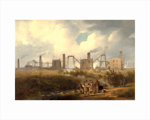 A View of Murton Colliery near Seaham, County Durham by John Wilson Carmichael