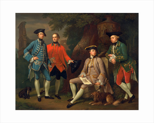 James Grant of Grant, John Mytton, the Hon. Thomas Robinson, and Thomas Wynne by Nathaniel Dance-Holland