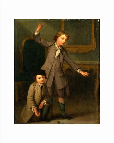 Portrait of Two Boys, probably Joseph and John Joseph Nollekens by Joseph Francis Nollekens
