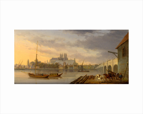 A View of Westminster Bridge and the Abbey from the South Side, London by William Anderson