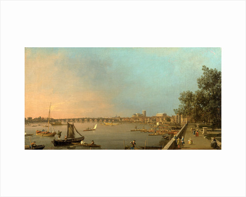 The Thames from the Terrace of Somerset House by Canaletto