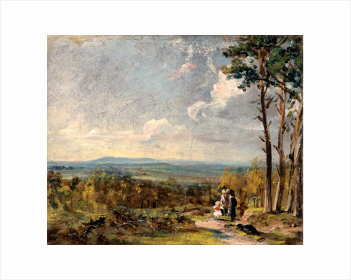 Hampstead Heath, London, Looking Towards Harrow A View on Hampstead Heath with Figures in the Foreground by John Constable