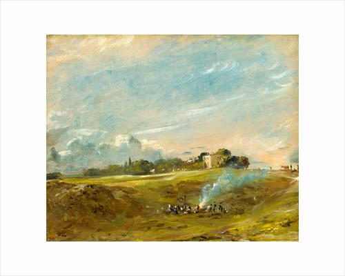 Hampstead Heath, with a Bonfire by John Constable