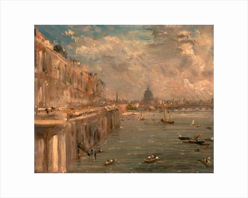 London, Somerset House Terrace from Waterloo Bridge by John Constable
