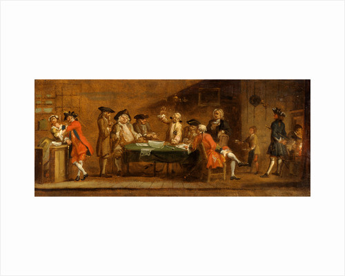 Figures in a Tavern or Coffee House The Coffee House Politicians by Joseph Highmore
