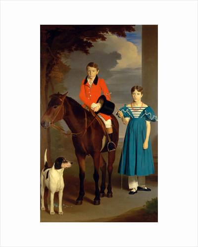 John Gubbins Newton and His Sister, Mary Newton by Robert Burnard