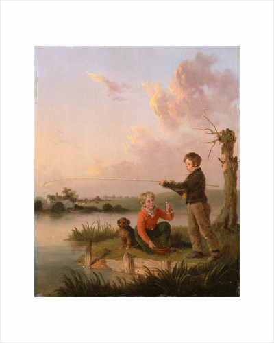 The Young Anglers The Young Fishermen by Edmund Bristow