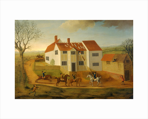 John Sidey and his Hounds at a Farmhouse near Hadleigh, Suffolk by James Dunthorne