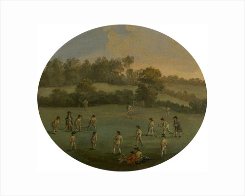 A Game of Cricket The Royal Academy Club in Marylebone Fields by Anonymous