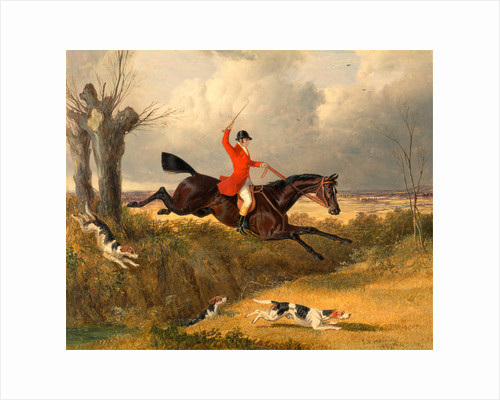 Foxhunting: Clearing a Ditch by John Frederick Herring
