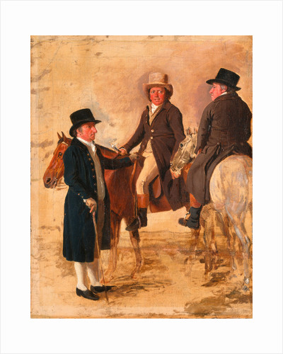 John Hilton, Judge of the Course at Newmarket; John Fuller, Clerk of the Course; and John Stevens, a Trainer by Benjamin Marshall