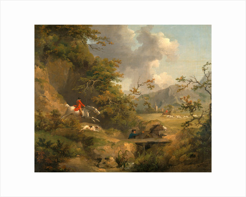 Foxhunting in Hilly Country by George Morland