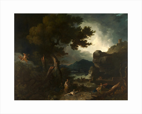 The Destruction of the Children of Niobe A large landskip with the story of Niobe by Richard Wilson