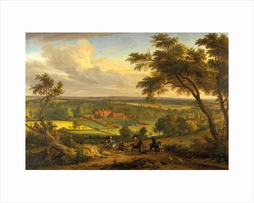 Bifrons Park, Kent Hunting Scene with Brifons Park in the Background by Perhaps Jan van der Vaardt