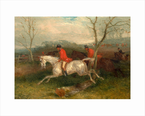 Foxhunting: Coming to a Fence (Full Cry) by William J. Shayer