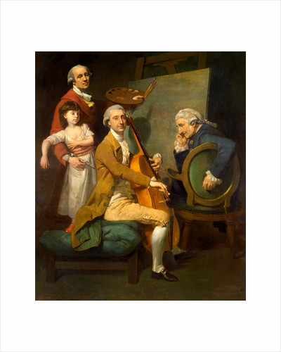 Self-Portrait with His Daughter Maria Theresa, James Cervetto, and Giacobbe Cervetto by Johan Joseph Zoffany