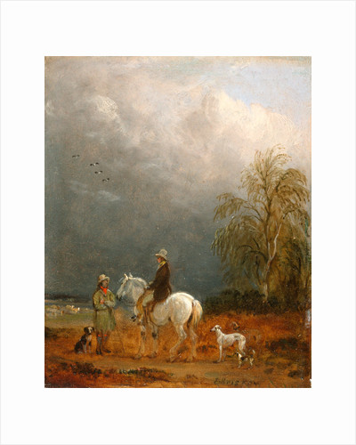 A Traveller and a Shepherd in a Landscape by Edmund Bristow