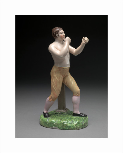 Ceramic, The Boxer Tom Cribb: in canary breeches, by Anonymous
