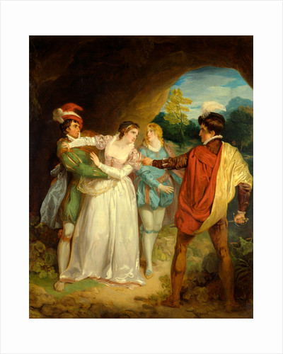 Valentine rescuing Silvia from Proteus by Francis Wheatley