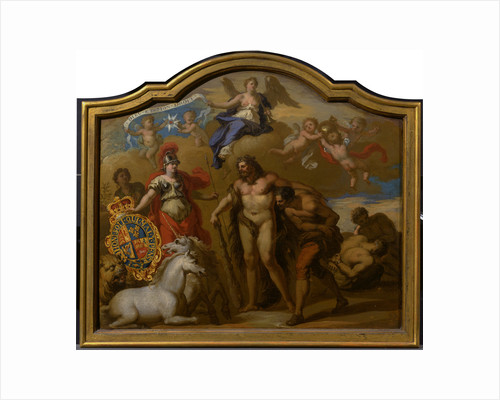 Allegory of the Power of Great Britain by Land, design for a decorative panel for George I's ceremonial coach by Sir James Thornhill