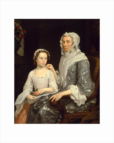Portrait of an Elderly Lady and a Girl by George Beare