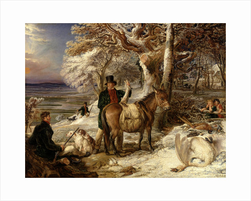 The Day's Sport Winter Landscape with Sportsmen returning from Shooting by James Ward