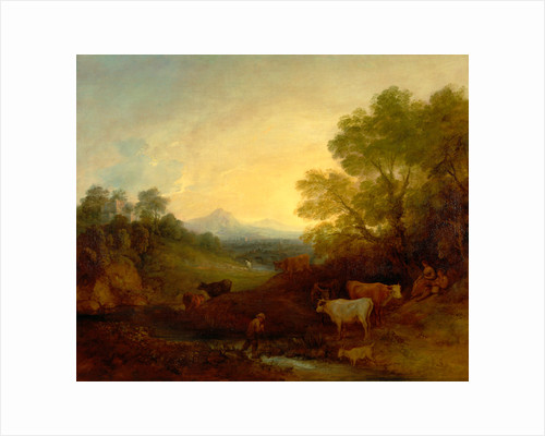 Landscape with Cattle Landscape with Cattle and Figures by Thomas Gainsborough