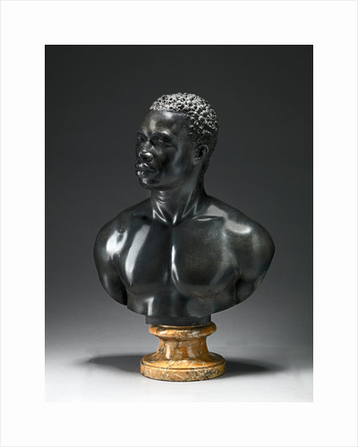 Bust of a Man Bust reputedly of Psyche, an athlete in the employ of the Duke of Northumberland by Studio of Francis Harwood
