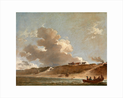 Coastal Landscape with a Ferry Boat by Sir Peter Francis Bourgeois