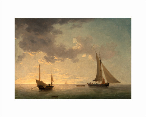 A Lugger and a Smack in Light Airs by Charles Brooking