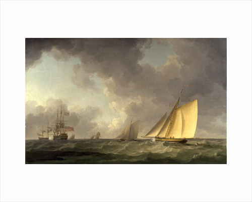 Cutter Close Hauled in a Fresh Breeze, with Other Shipping by Charles Brooking