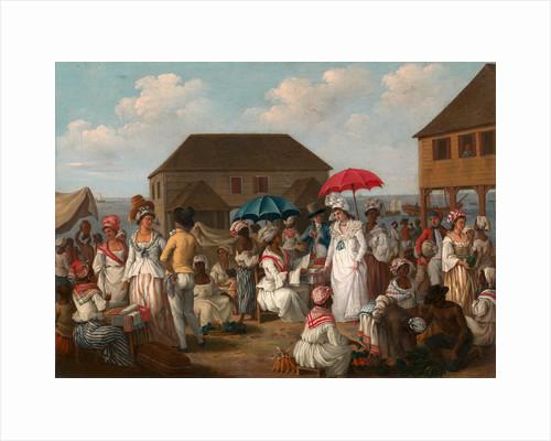 Linen Market, Dominica Linen Day, Roseau, Dominica - A Market Scene, c.1780 by Agostino Brunias