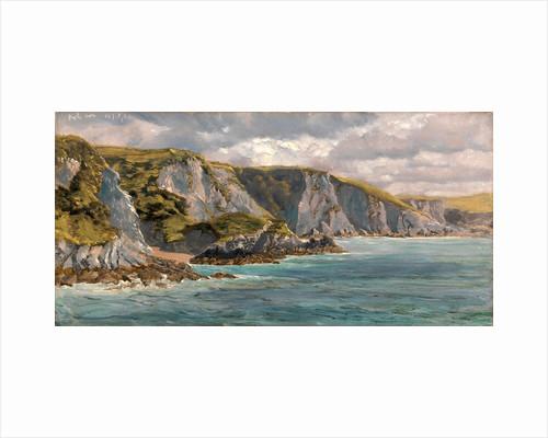On the Welsh Coast Seascape by John Brett