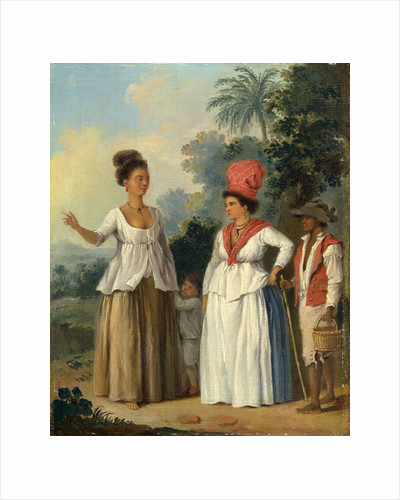 West Indian Women of Color, with a Child and Black Servant by Agostino Brunias