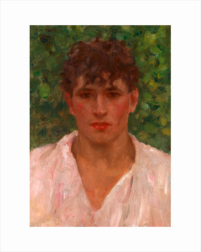 Portrait of a Young Man with Open Collar by Henry Scott Tuke