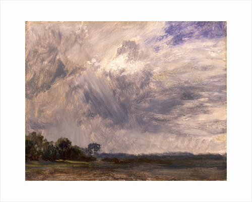 Study of a Cloudy Sky Cloud study Landscape with Grey Windy Sky by John Constable
